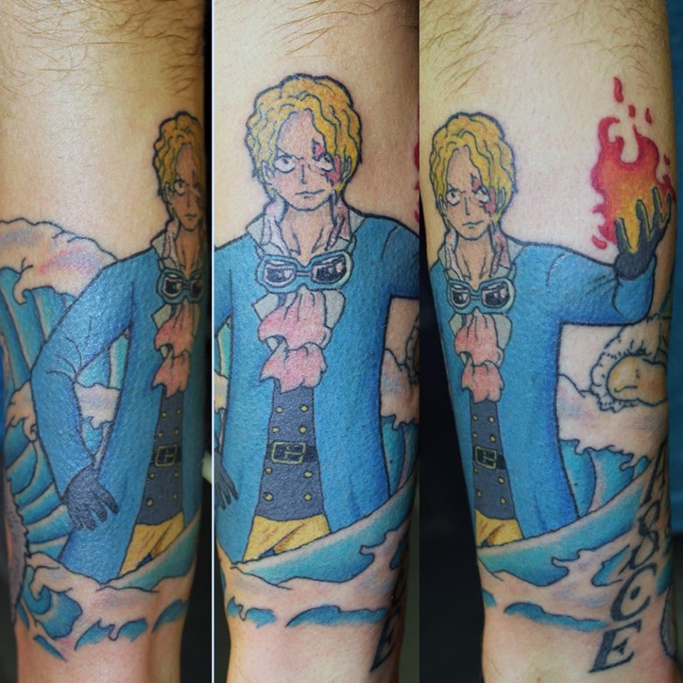 One Piece sleeve tattoo in progress #tattoo #tattootom #bournemouth ...