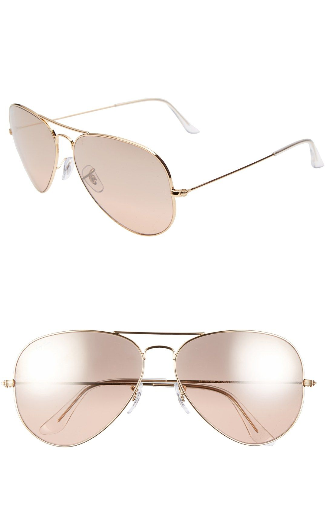 40fce2c5ec Pretty pink Ray-Ban aviators are good any time of the year.