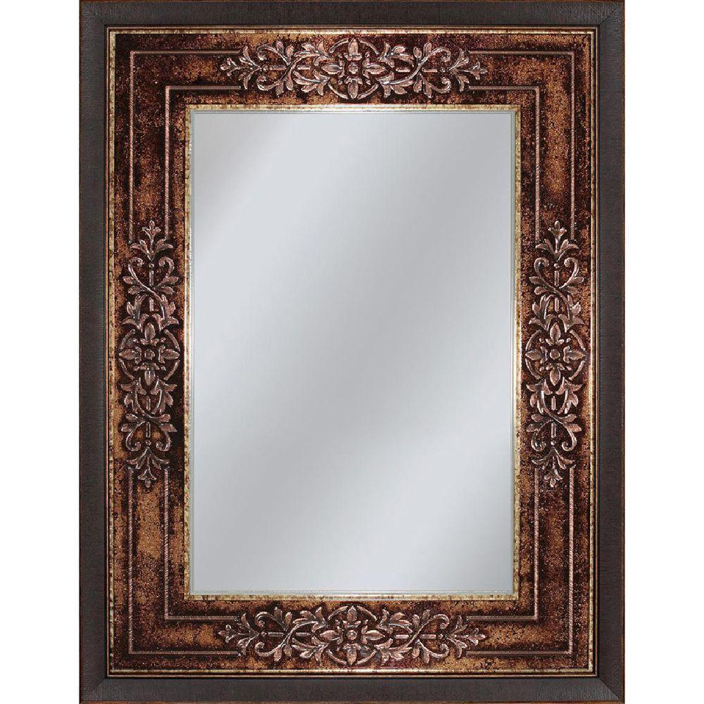 Bon Deco Mirror Genoa 27 In. X 33 In. Mirror In Bronze Cherry 6262 At The Home  Depot