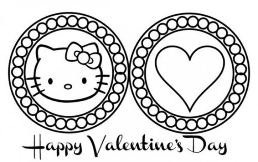 Cute Hello Kitty Valentines Day Coloring Pages Valentine Themed Coloring Pages Valentine Colorin Hello Kitty Coloring Kitty Coloring Valentine Coloring Pages
