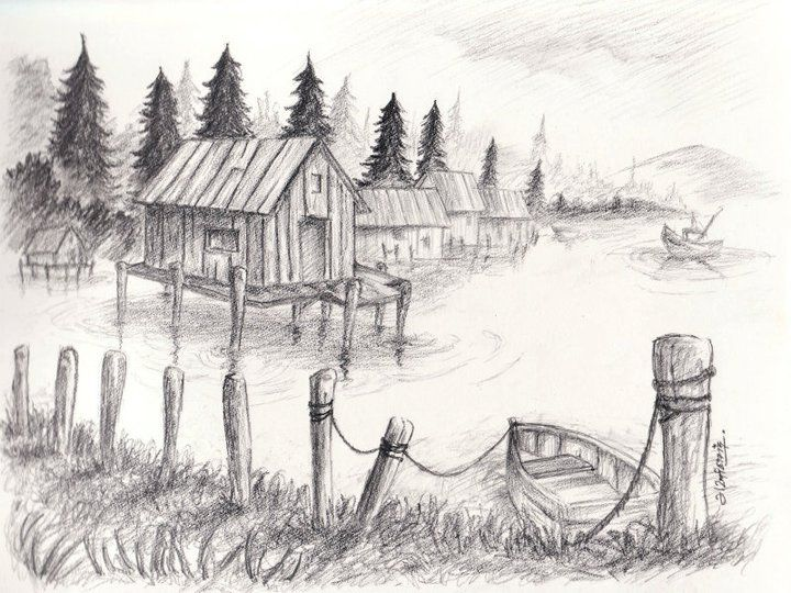 Landscape sketches google search sketching pinterest for What is landscape drawing