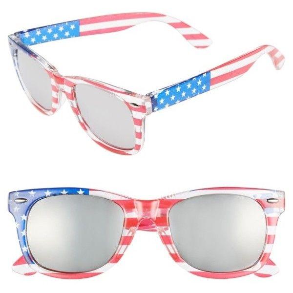 15cb8a4d4dca4 Women s Bp. Americana 63Mm Stars   Stripes Sunglasses (£9.32) ❤ liked on
