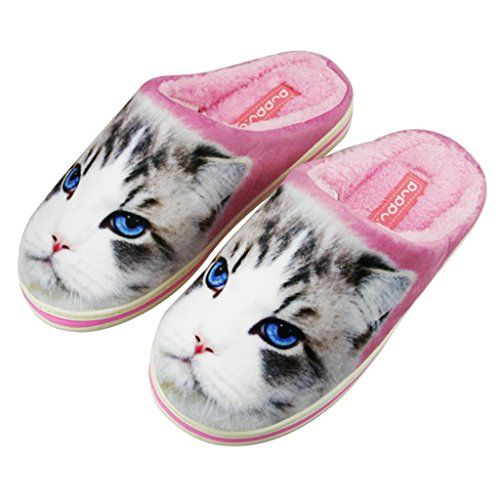 Novelty Mens Womens Slip On Cozy House Slippers With Soft