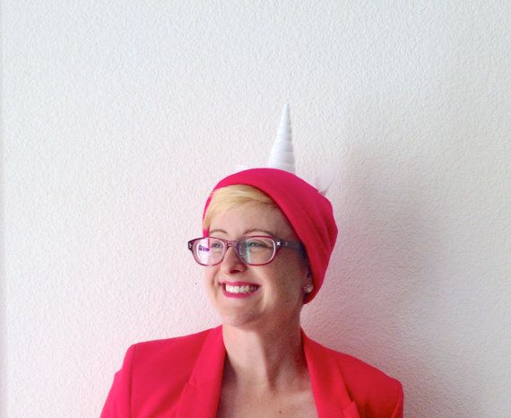 Hey, I found this really awesome Etsy listing at https://www.etsy.com/listing/121944287/hot-pink-unicorn-beanie-easy-halloween