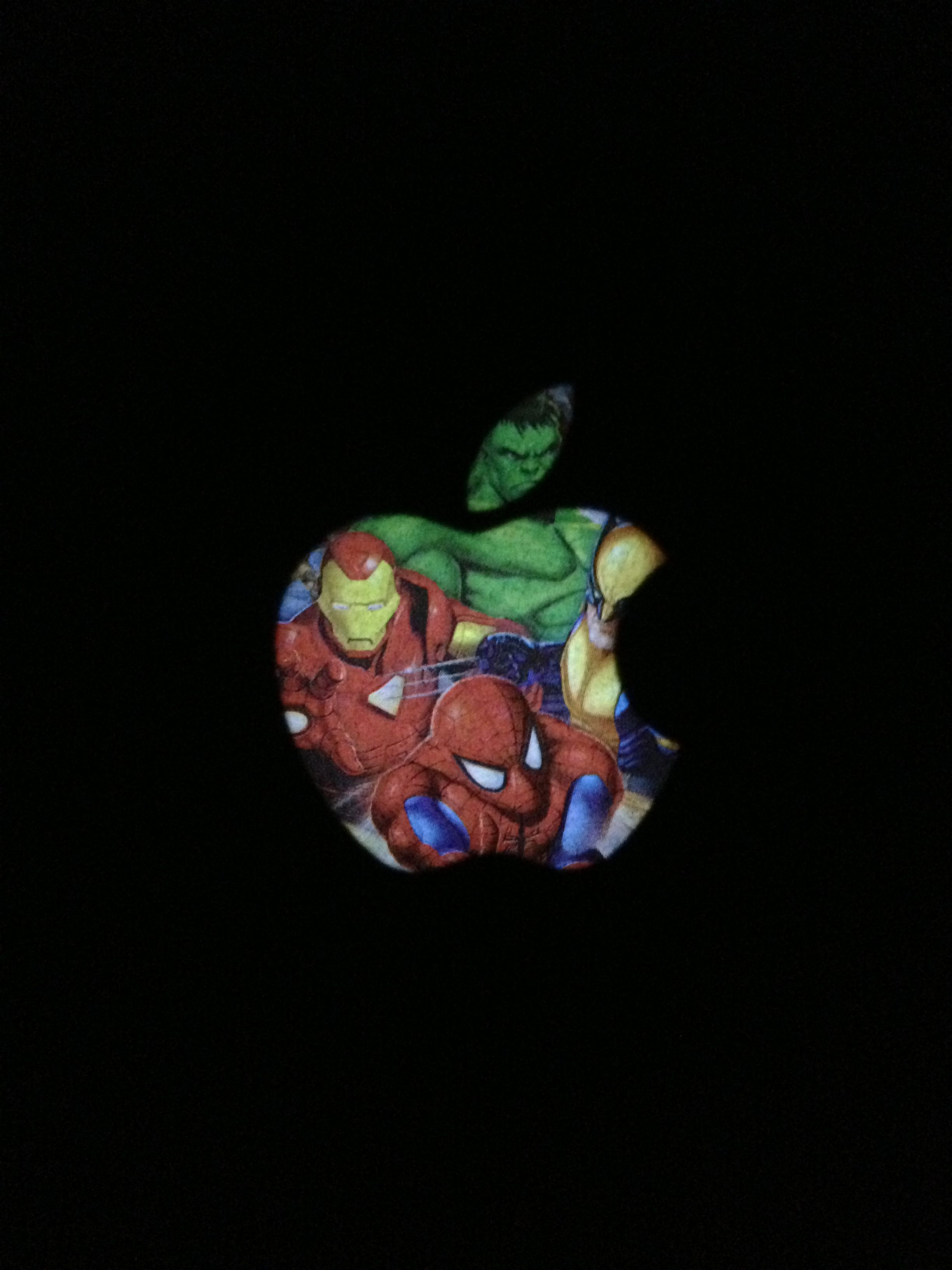 Cute superhero apple logo