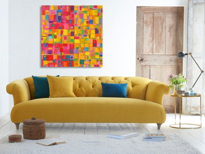 مربعات ملونة Comfy Corner Sofa Sofa Design Furniture Trends