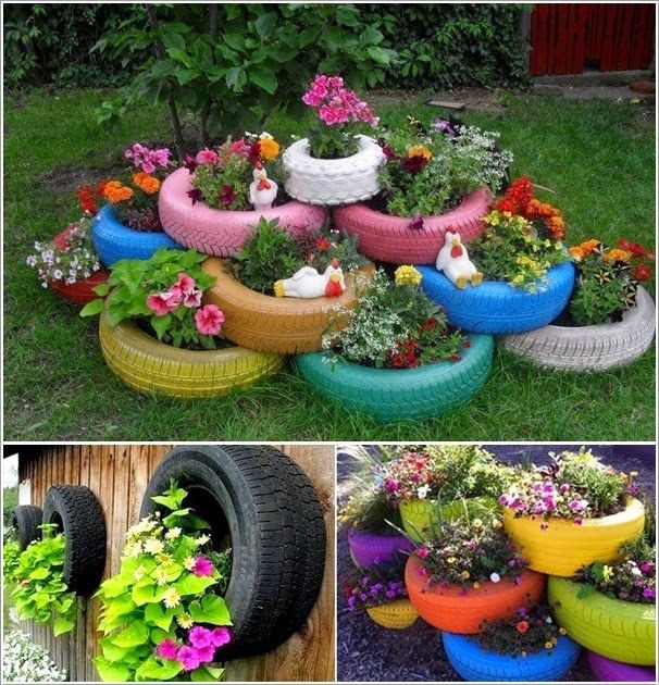 Creative Recycling Ideas For Your Garden Diy Planters Tire Garden Garden Projects