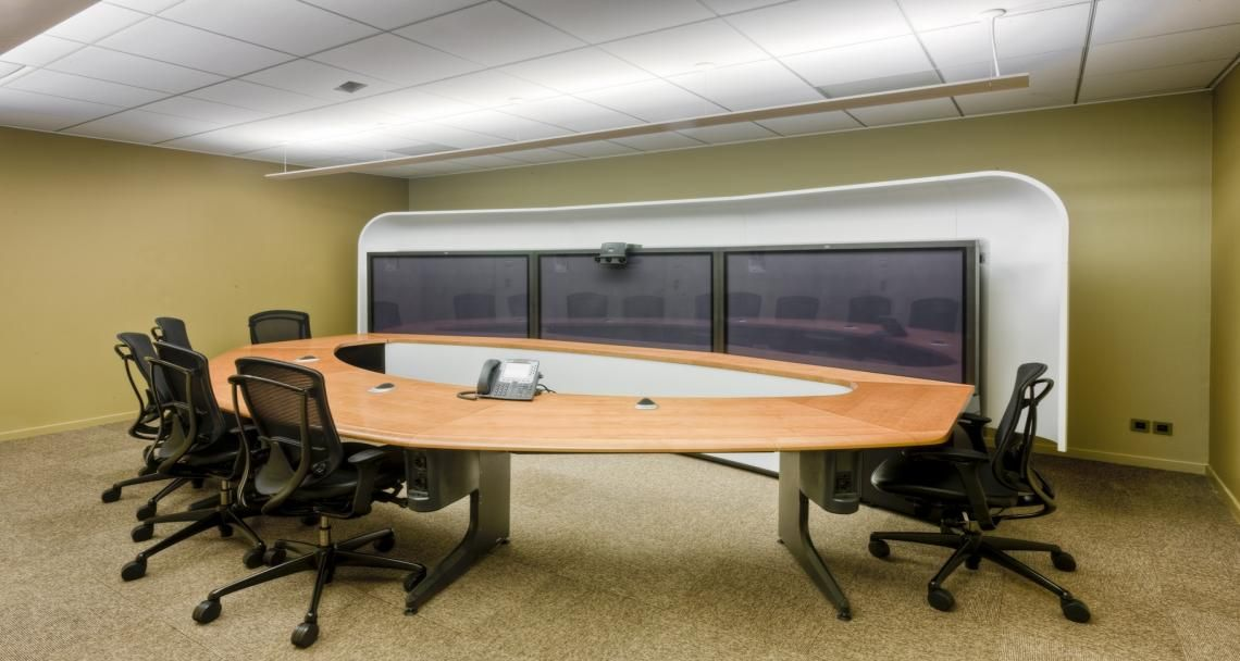 Sala de reuniões nos escritórios da Stanley B&D em Diegem, Bélgica