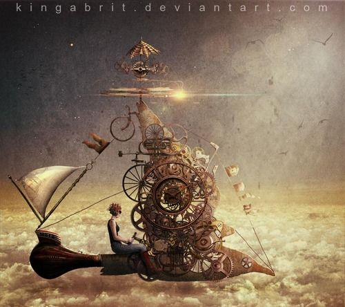 Contentimus Steampunk art by under her own steam 900...