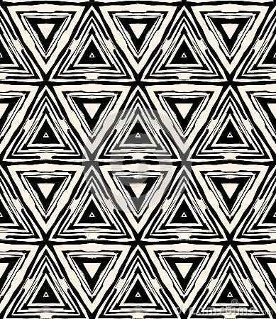 1930s Art Deco Geometric Pattern With Triangles By Tukkki Via