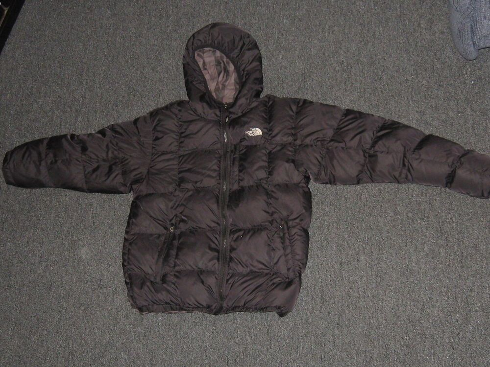 5eb901c36 Boys The North Face 550 Reversible Goose Down Jacket Coat Sz XL (18 ...