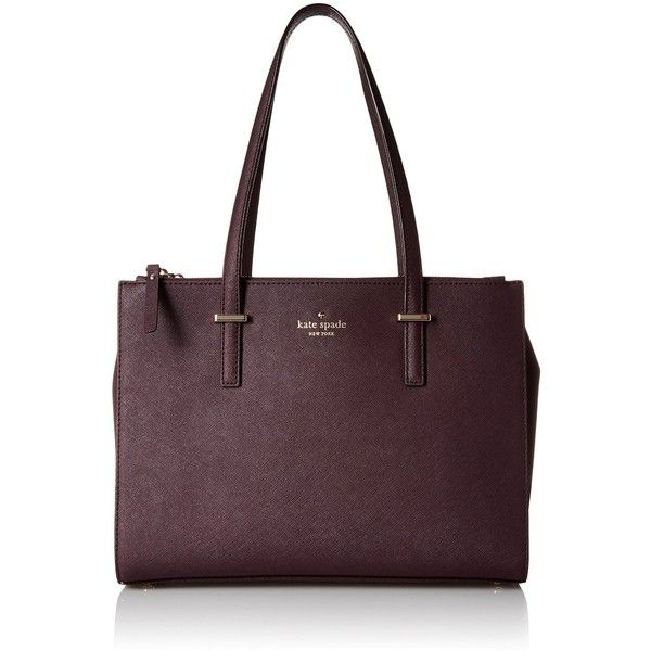 kate spade new york Cedar Street Small Jensen Tote Bag ($228) ❤ liked on Polyvore featuring bags, handbags, tote bags, tote purses, handbags totes, tote bag purse, purple handbags and tote hand bags
