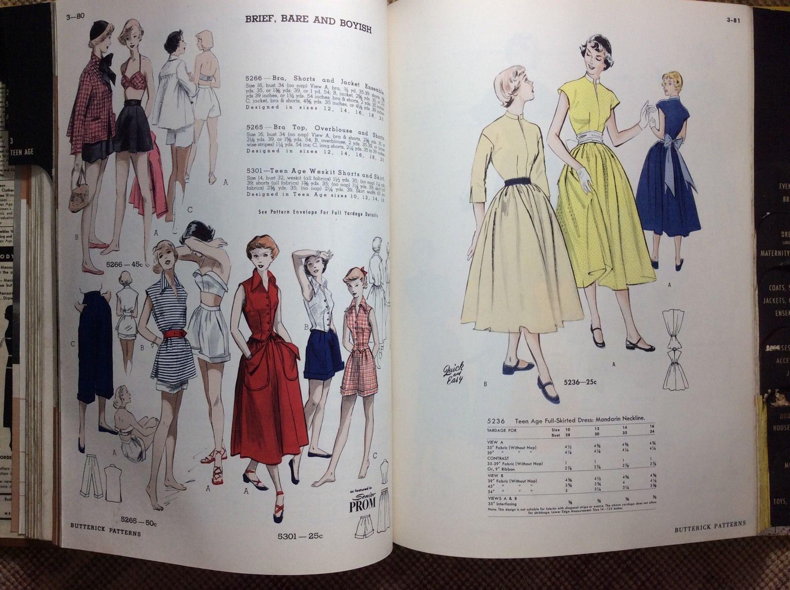 Vtg September 1950 Butterick Sewing Pattern Counter Catalog Hard ...