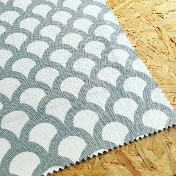 Interior Fabric- Grey Fabric- Cotton Fabric- Designer Fabric- Fabric By The Metre- Curtain Fabric- Modern- Geo Fabric- Oriental fabric