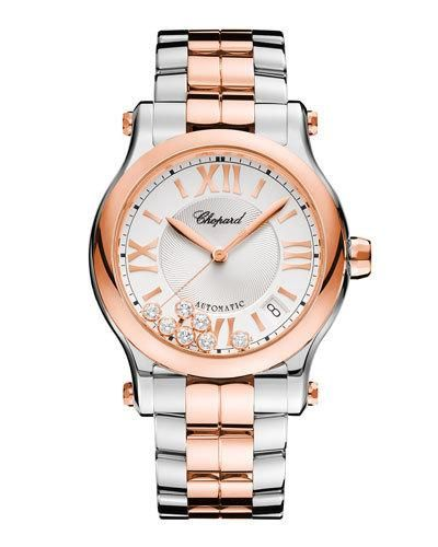 ae29ede34 Chopard 36mm Happy Sport Two-Tone Watch with Diamonds | Products ...