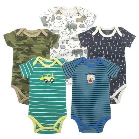 380ec494d 5 pcs lot Baby Short-sleeve rompers baby boy jumpsuit Newborn baby ...