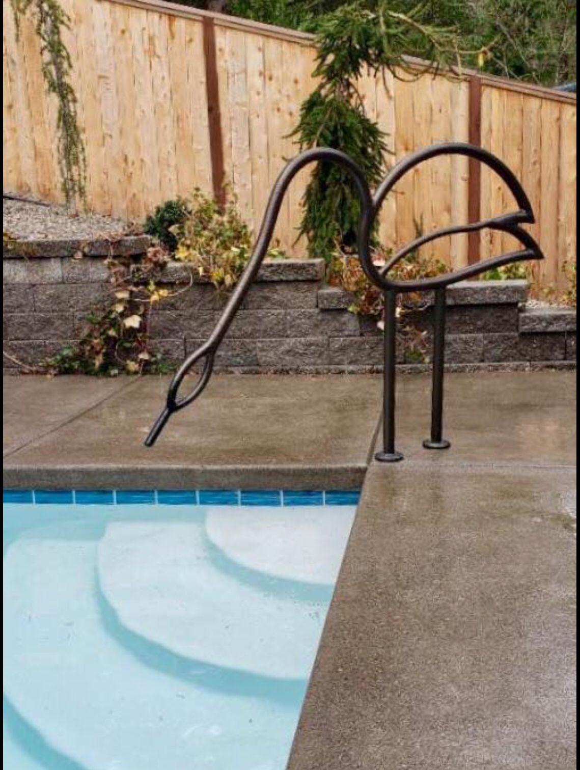 Bronze Swan Pool Rail Pool Rails Pool Steps Swimming Pools