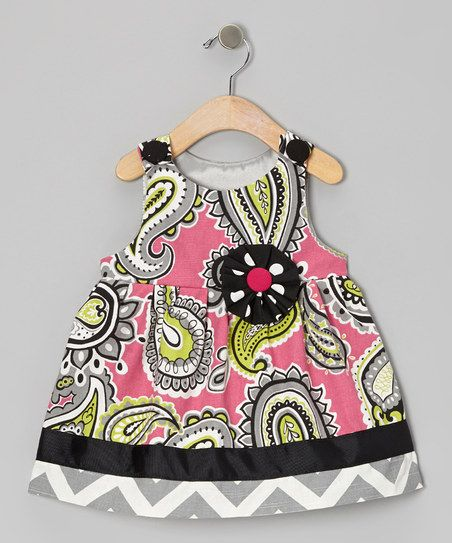 Gray & Pink Paisley Majella Jumper - Infant & Toddler
