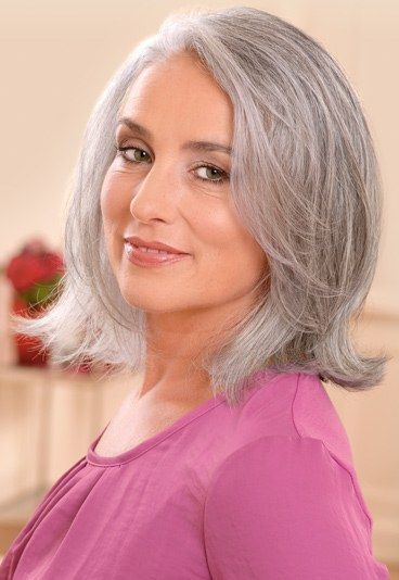 Frisuren mittellang fur graues haar