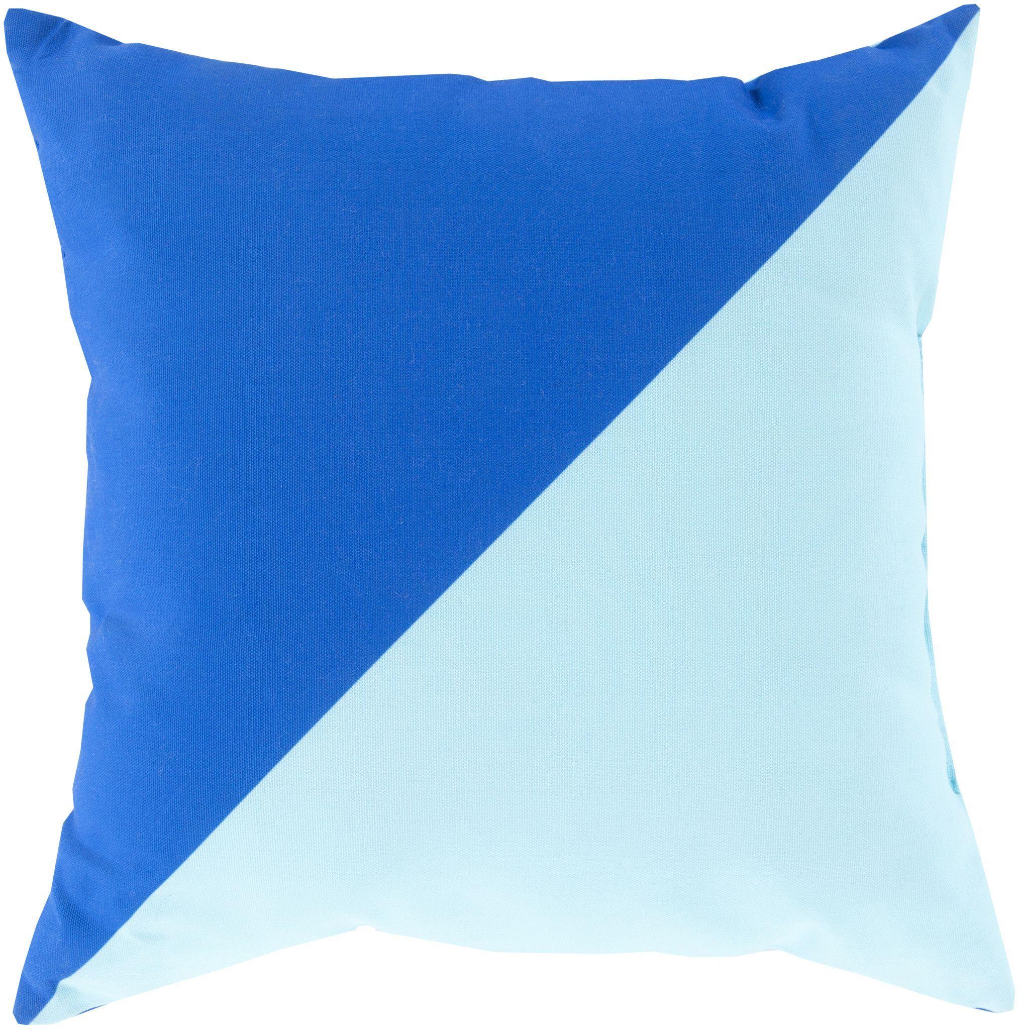 Surya Rain Throw Pillow Blue, Blue