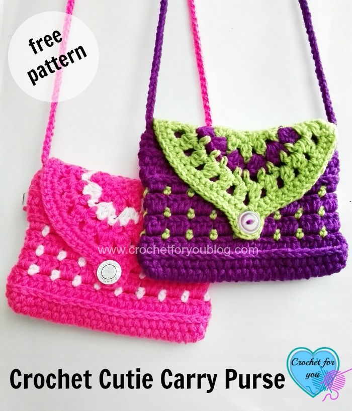 Free Crochet Cutie Carry Purse Pattern   Gehäkelte taschen ...