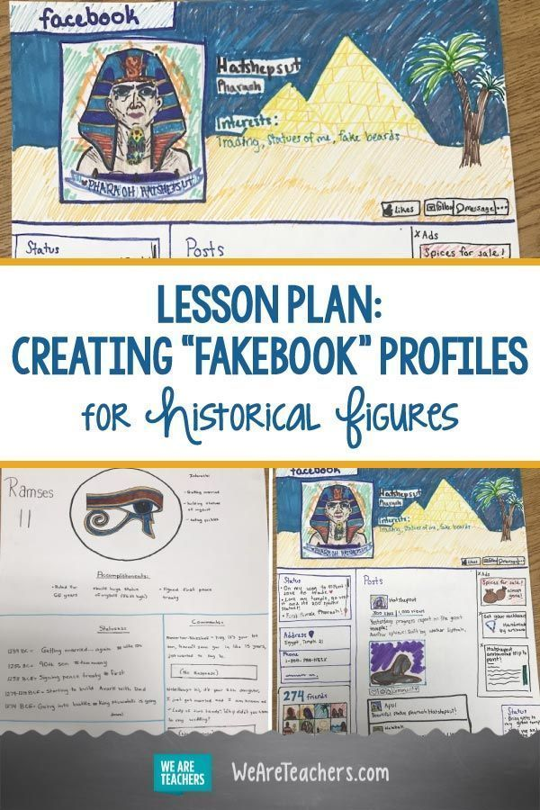 """Photo of I Have My Students Create """"Fakebook"""" Profiles for Historical Figures"""