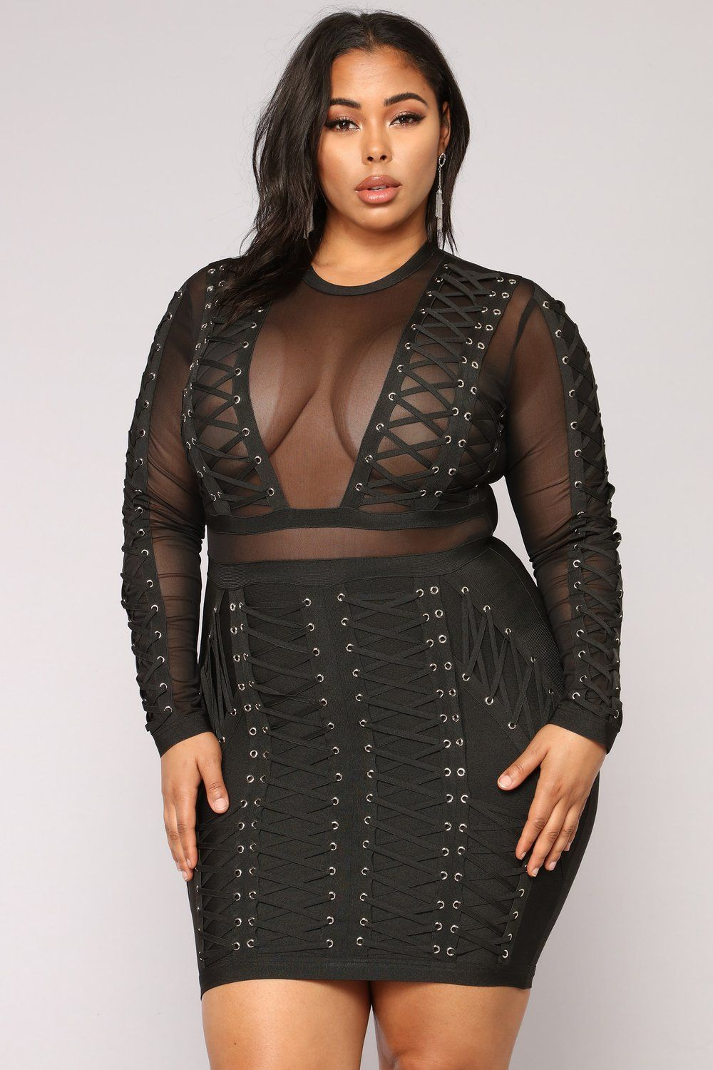Down With The Clique Bandage Dress - Black in 2019   Plus size ...
