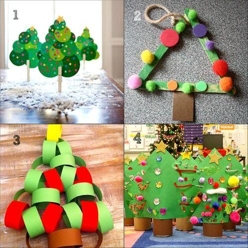 Foto Collage Di Natale.Collage Di Lavoretti Di Natale Per Bambini Dell Asilo Artigianato Natalizio Natale Festa Di Natale