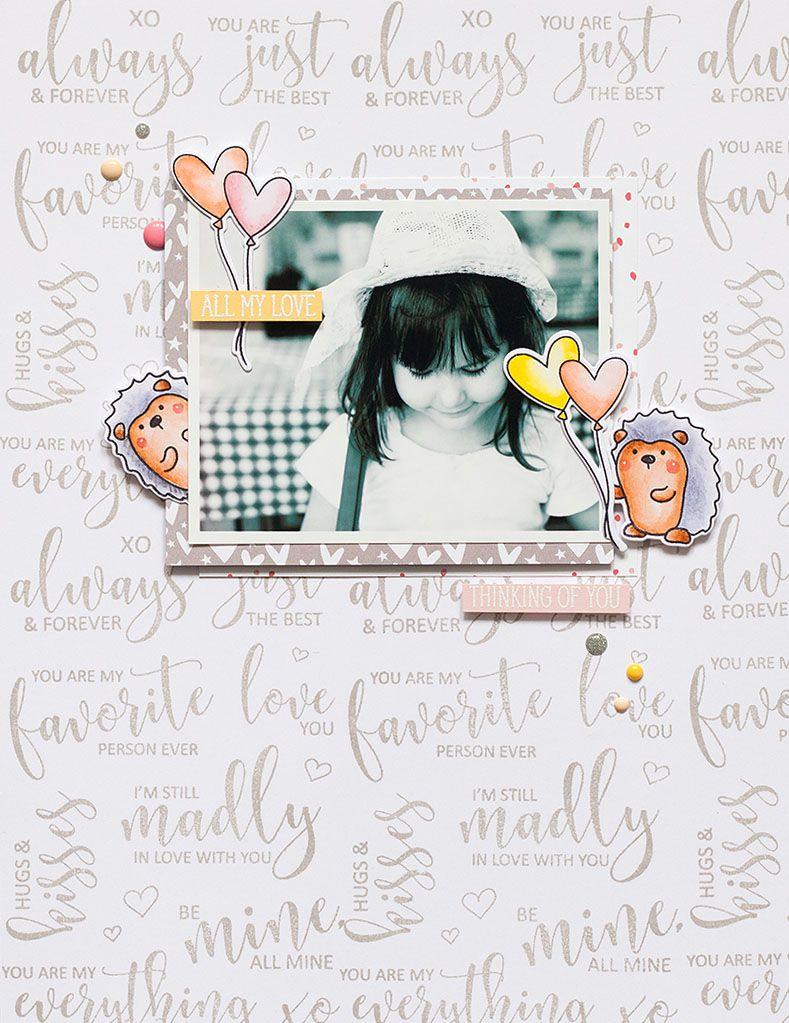 Avery Elle GD Layout @akossakovskaya #averyelle #stamping #scrapbook #layout