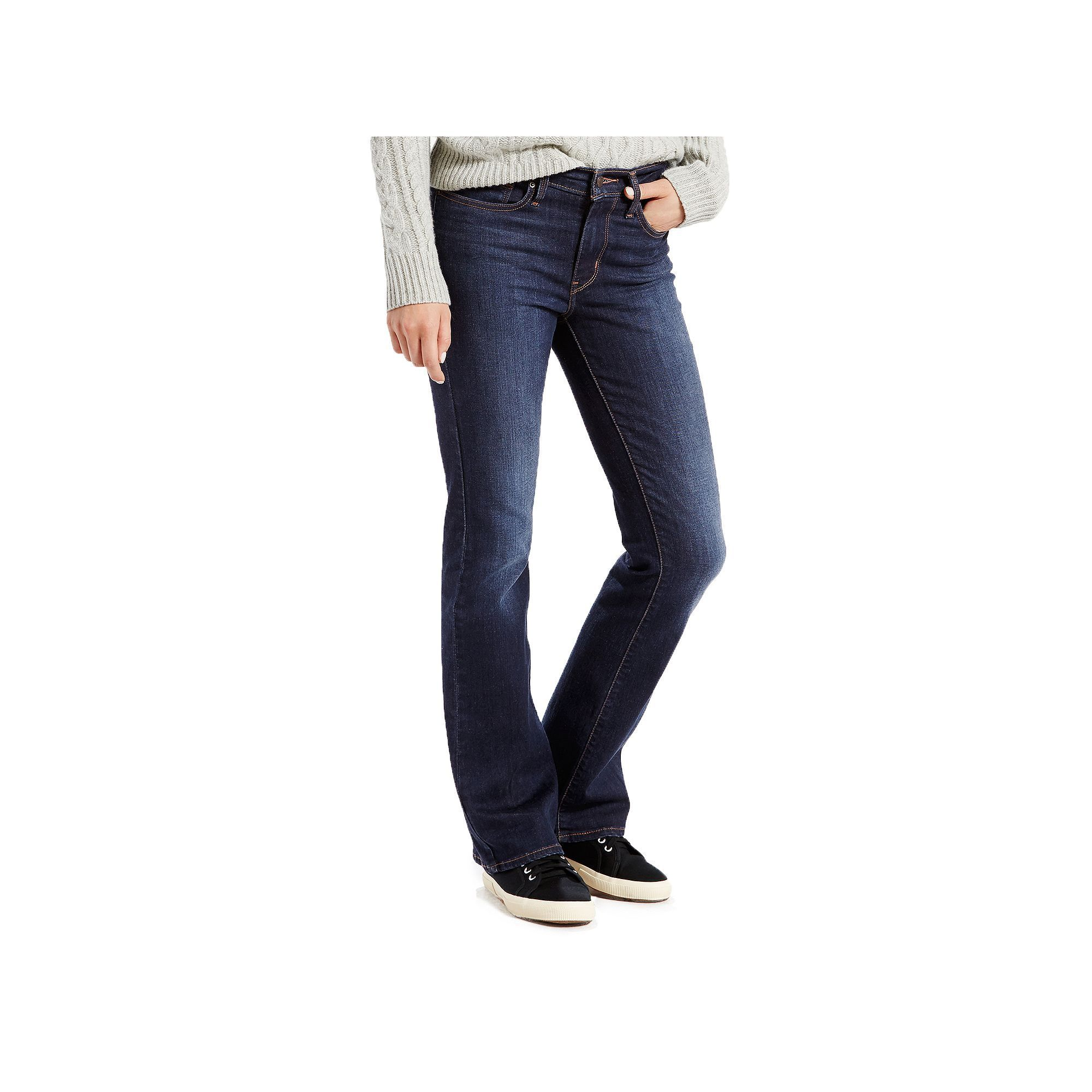 536a1f20530 Women's Levi's® Slimming Bootcut Jeans, Size: 16/33 Tall, Dark Blue