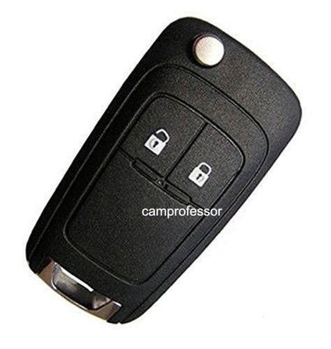 5pcs Folding Replacement Remote Key Fob 2 Button For Chevrolet