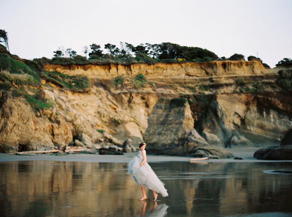 sea foam beach wedding dress | fabmood.com