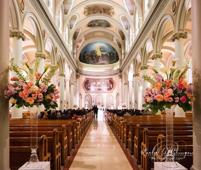 Church Wedding Ceremony Flowers Toronto At St Pauls Basilica By Rachel A Clingen