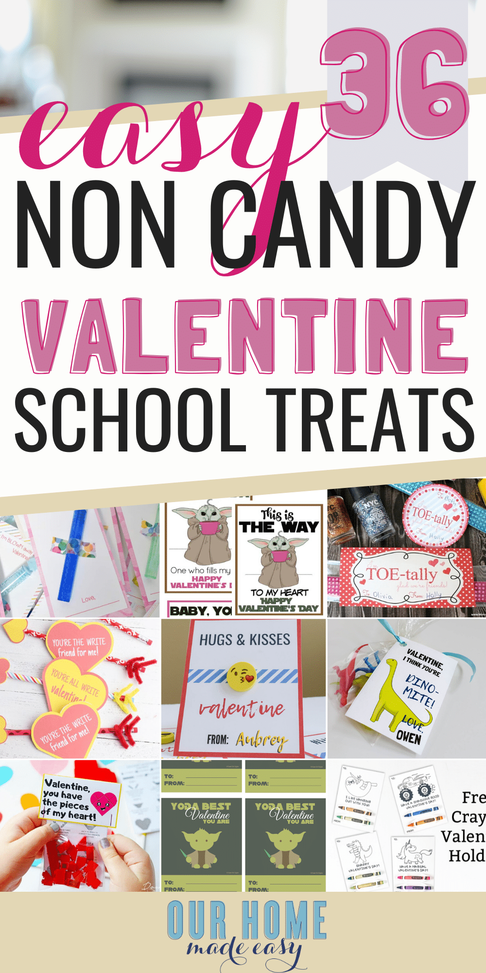 non food school valentine ideas for kids #valentinesday #kidscrafts #ourhomemadeeasy    You may obviously begin decorating your house at any time but In particular for the duration of your Christmas holiday, you will see Everyone extremely linked to decorating their homes and looking out for exceptional Tips for the same. As Christmas year is undoubtedly an annually event, Everyone tends to outsmart them selves, likely all out ... #Candy #Ideas #Kids #School #Valentines #Valentines day food
