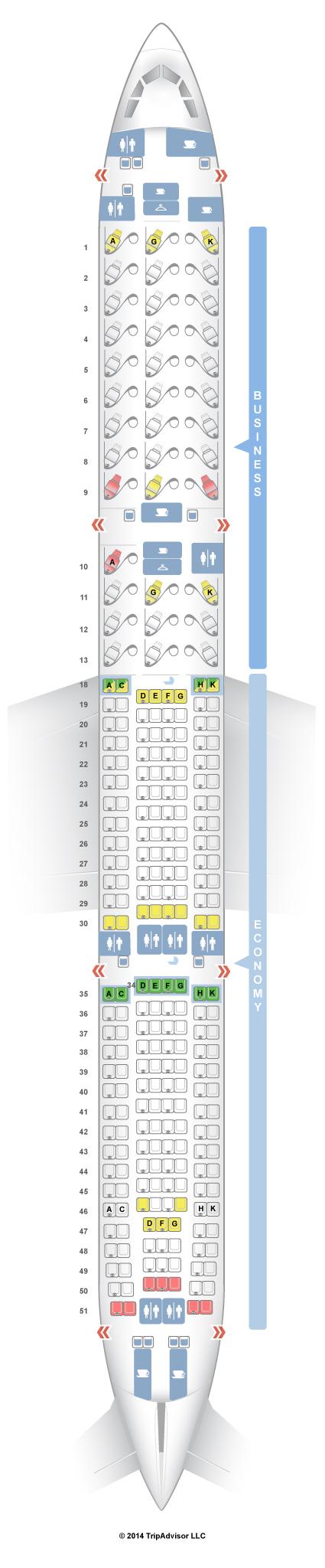 Seatguru Seat Map Air Canada Airbus A330 300 333 Boeing 777