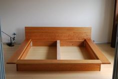 Solid Cherry Flat Box Frame Modern Details Substructure
