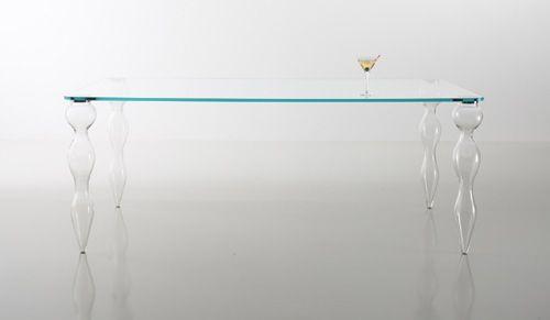 Tavoli Con Gambe Di Vetro : Tavolo con gambe di vetro soffiato di murano fely tavolo