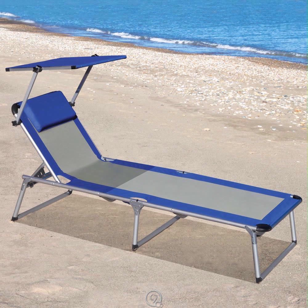 Beach lounge chair portable - The Canopied Lounger Portable Lounge Chair Integrated Canopy Shade Aluminum