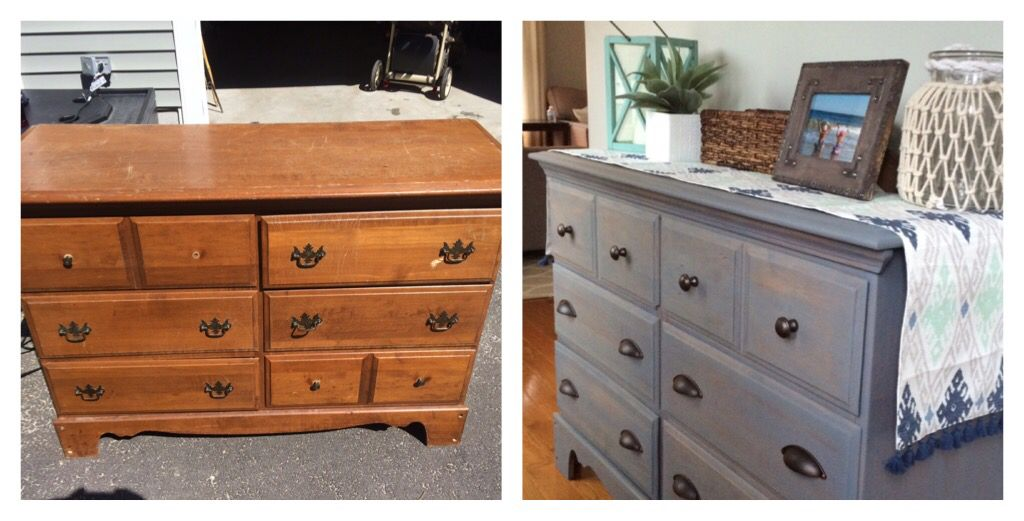 Weekend Diy Refinished Dresser Using Varathane Weathered Gray Stain