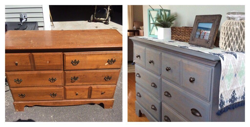 Weekend Diy Refinished Dresser Using Varathane Weathered Gray