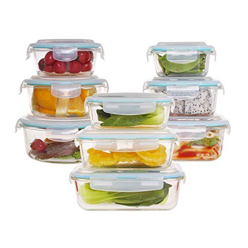Glass Food Storage Containers With Locking Lids 18Piece Glass Food Storage Container Set With Airtight Locking Lids