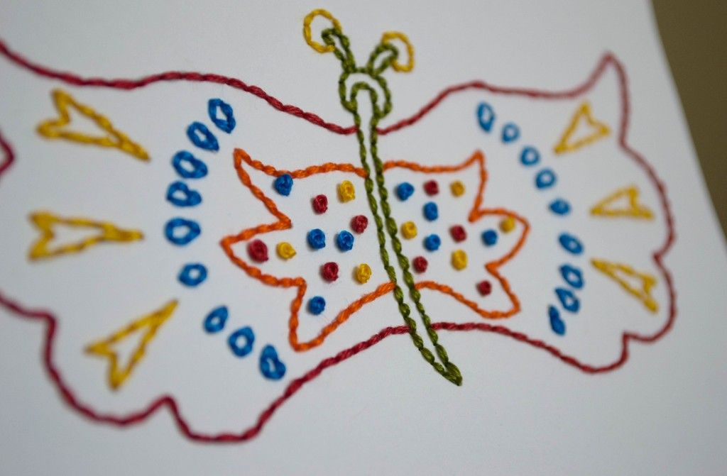 Free Butterfly Hand Embroidery Pattern | Lovely Messes