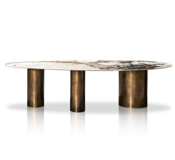 Lagos Table Patagonia Marble Antique Brass En 2019