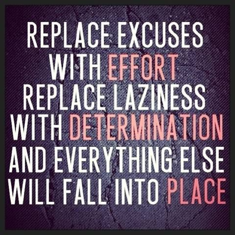 Replace excuses