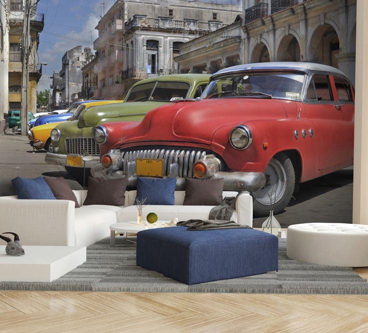 Cuba Classic Cars Wallpaper Wallsauce Uk Cars Mural Classic Cars Car Wallpapers