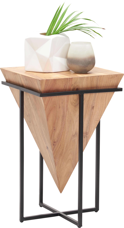 Beistelltisch 45 Cm Akazie Massiv Eisen Shoppen Beistelltisch Tisch Beistelltisch Holz