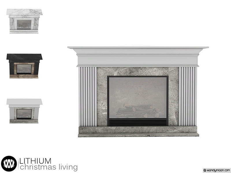 Christmas 2020 Fireplace By Wondymoon Lithium Christmas Living   Fireplace Found in TSR Category 'Sims 4