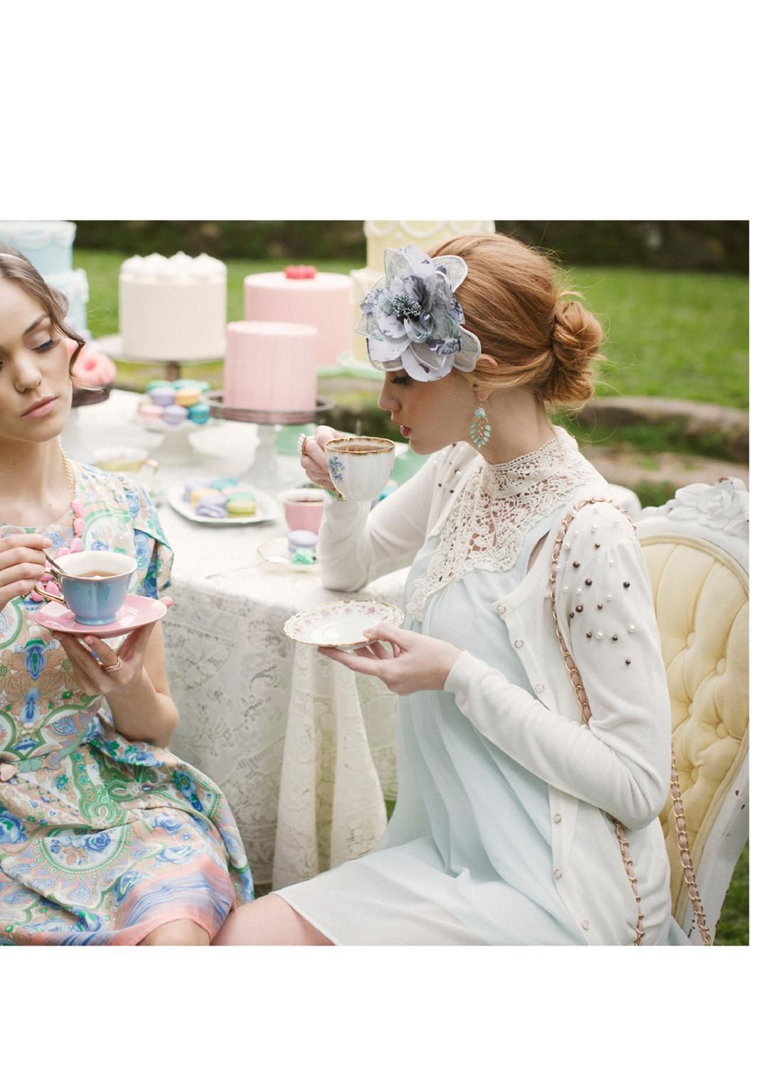 Tea For Two Ruche Spring Lookbook Tea Party Attire Tea Party Outfits Spring Tea Party [ 1498 x 1101 Pixel ]