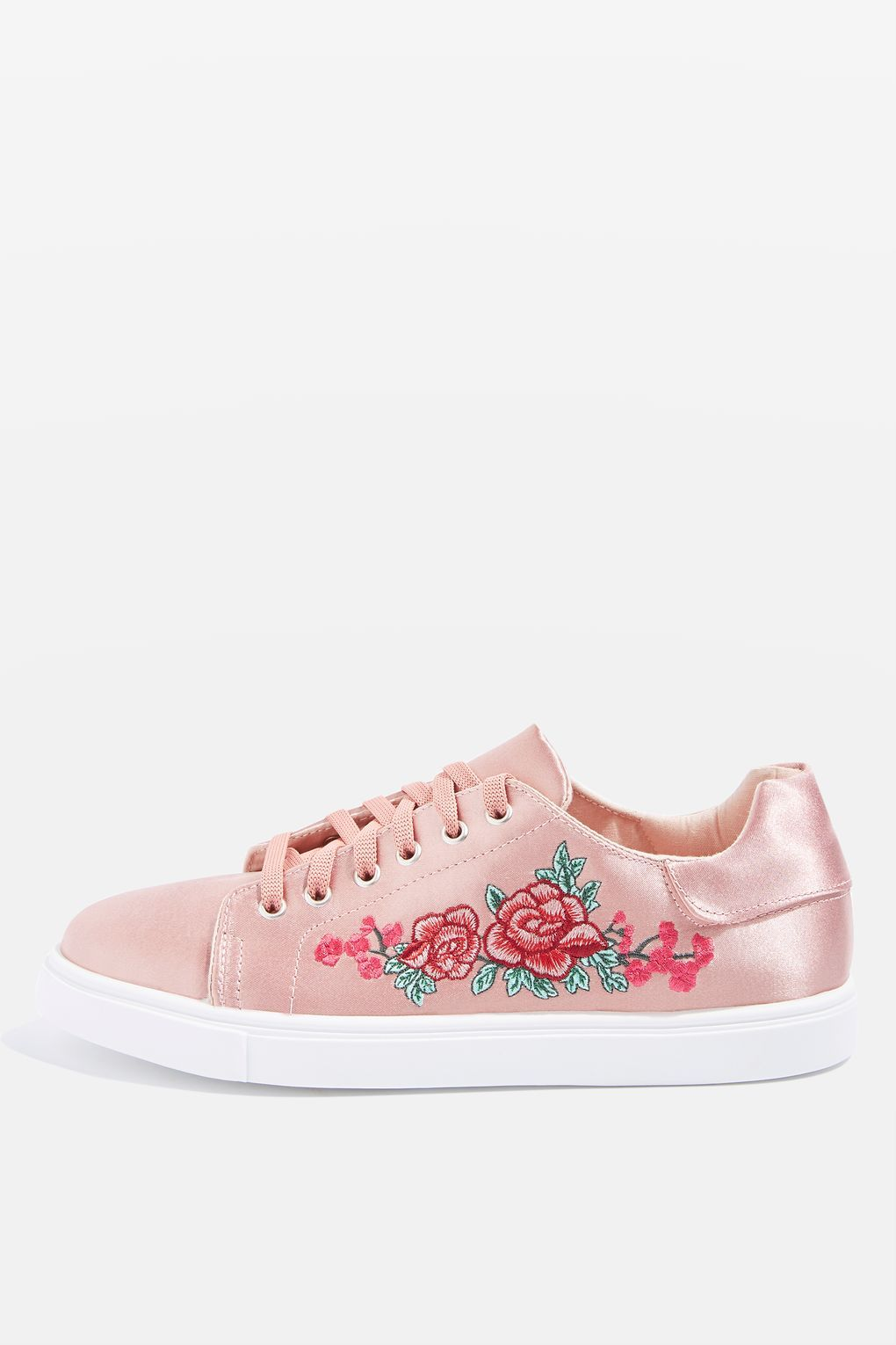 7820cee278b1 CAMILLA Pink Embroidery Trainers - Topshop