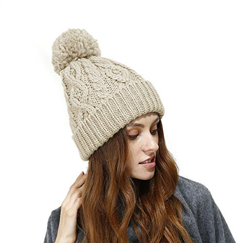 32ee4a11800 New JULY SHEEP Women s Hypoallergenic Winter Knitted Beanie Merino Wool  Pompom Hat With Fleece Lining Thick Slouchy Hat Ski Cap.   17.99 - 25.99   from top ...